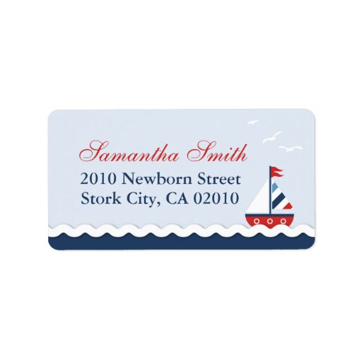 Ships Ahoy! Address Label
