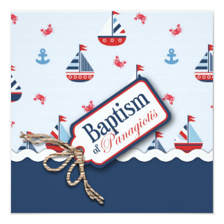 Ships Ahoy! Baptism Square_Panagiotis Card