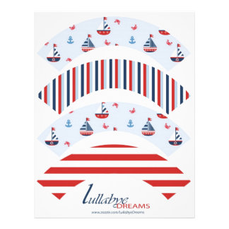 Ships Ahoy! Cupcake Wrappers Flyer