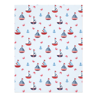 Ships Ahoy! Dual-sided Scrapbook Paper Flyer Design