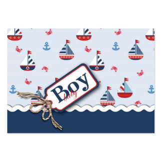 Ships Ahoy! Gift Tag Large Business Card