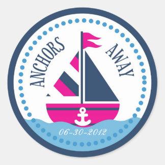 Ships Ahoy! Girl Sticker B