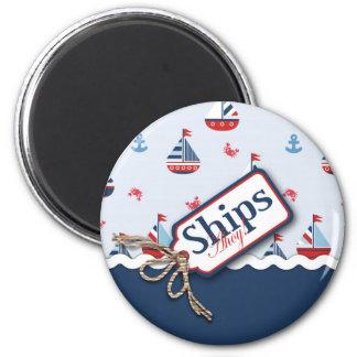 Ships Ahoy! Magnet 2