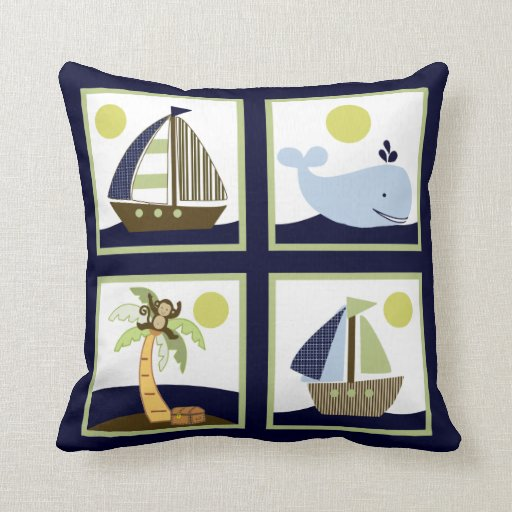 Ships Ahoy Mate/Nautical Personalized Pillow