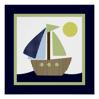 Ships Ahoy Mate/Nautical/Whale 2 Wall Art Poster
