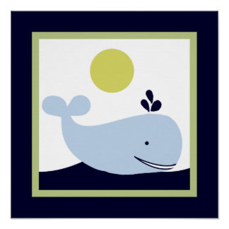 Ships Ahoy Mate/Nautical/Whale  Wall Art Poster