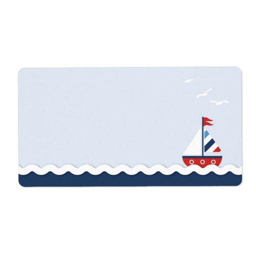Ships Ahoy! Name Tag Shipping Label