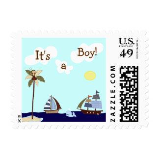 Ships Ahoy Nautical Custom Postage Stamp
