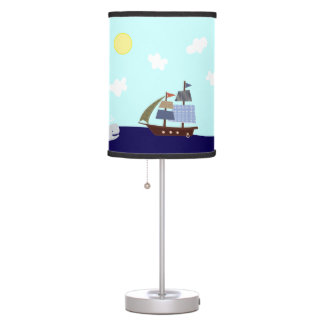 Ships Ahoy Nautical Nursery Lamp