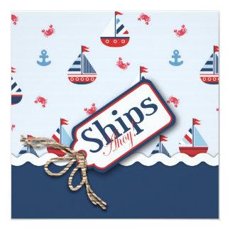 Ships Ahoy! Square 2 Card