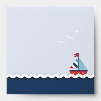 Ships Ahoy! Square Envelope B