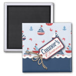 Ships Ahoy! Square Magnet Connor 2