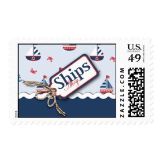 Ships Ahoy! Stamp B