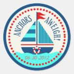 Ships Ahoy!Sticker C Classic Round Sticker