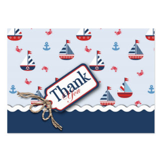 Ships Ahoy! TY Gift Tag Large Business Card