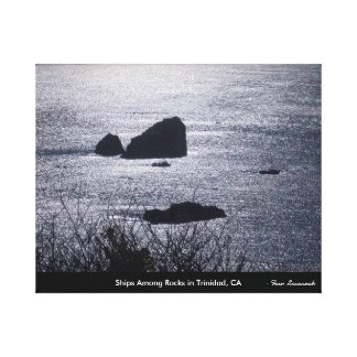 Ships Among Rocks in Trinidad, CA- with Title Canvas Print