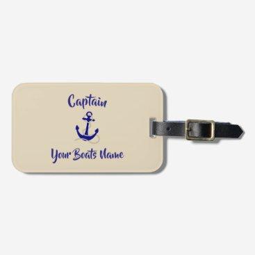 Ships anchor boat captains bag tag