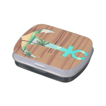 Beach Themed Ships Anchor in a board walk Candy Tins