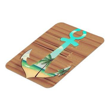 Ships Anchor in a board walk Magnet