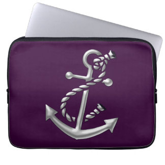 Ship's Anchor Nautical Marine-Themed Gift Laptop Computer Sleeves