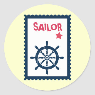 Ship's Anchor - Nautical Ship Anchors Classic Round Sticker