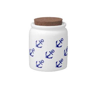 Ship's Anchors Candy Jars