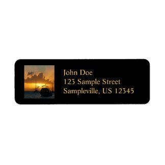 Ships and Sunset Return Address Label