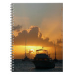 Ships and Sunset Tropical Seascape Notebook