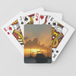 Ships and Sunset Tropical Seascape Playing Cards