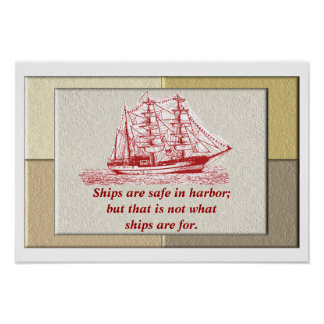 Ships are safe - poster