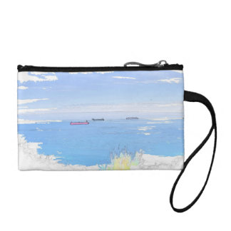 Ships At Sea Image Key Coin Clutch