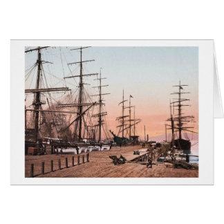 Ships at the Wharves at San Francisco circa 1900 Card