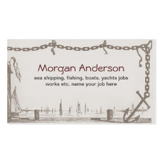 ships boats fishing sea ocean business card standard business cards