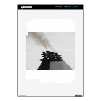 Ships funnel emitting black smoke in the sky iPad 3 decals