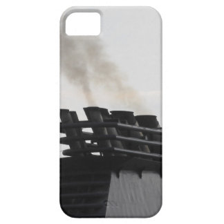Ships funnel emitting black smoke in the sky iPhone SE/5/5s case