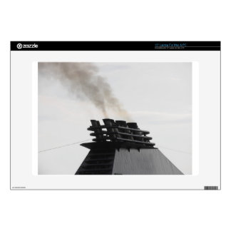 "Ships funnel emitting black smoke in the sky skin for 15"" laptop"