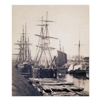 Ships in a Canal Poster
