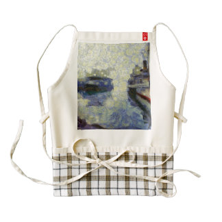 Ships in a lake zazzle HEART apron