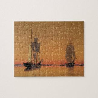Ships in Boston Harbor - William Bradford Jigsaw Puzzle