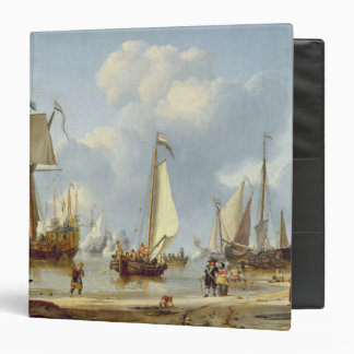 Ships in Calm Water with Figures by the Shore Binders