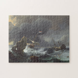Ships in Distress off a Rocky Coast Jigsaw Puzzle