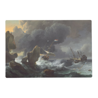 Ships in Distress off a Rocky Coast Placemat