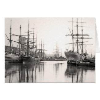 Ships in Harbor Card