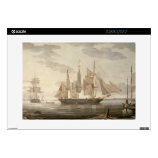 "Ships in Harbour, 1805 (oil on canvas) Decals For 15"" Laptops"