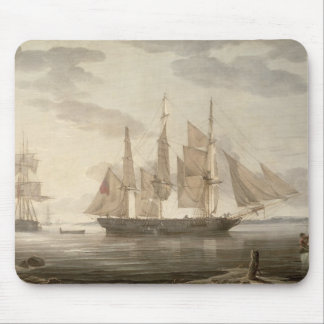 Ships in Harbour, 1805 (oil on canvas) Mouse Pad