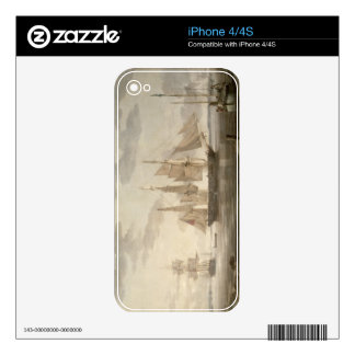 Ships in Harbour, 1805 (oil on canvas) Skin For The iPhone 4S
