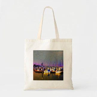 Ships in harbour tote bags