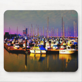 Ships in harbour mouse pad