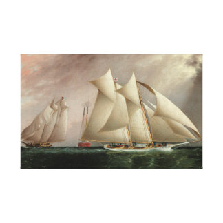 Ships in Hurricane Cup Race - Buttersworth Gallery Wrap Canvas