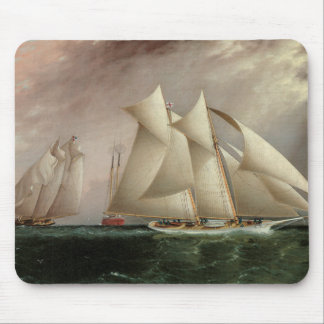 Ships in Hurricane Cup Race - Buttersworth Mouse Pad
